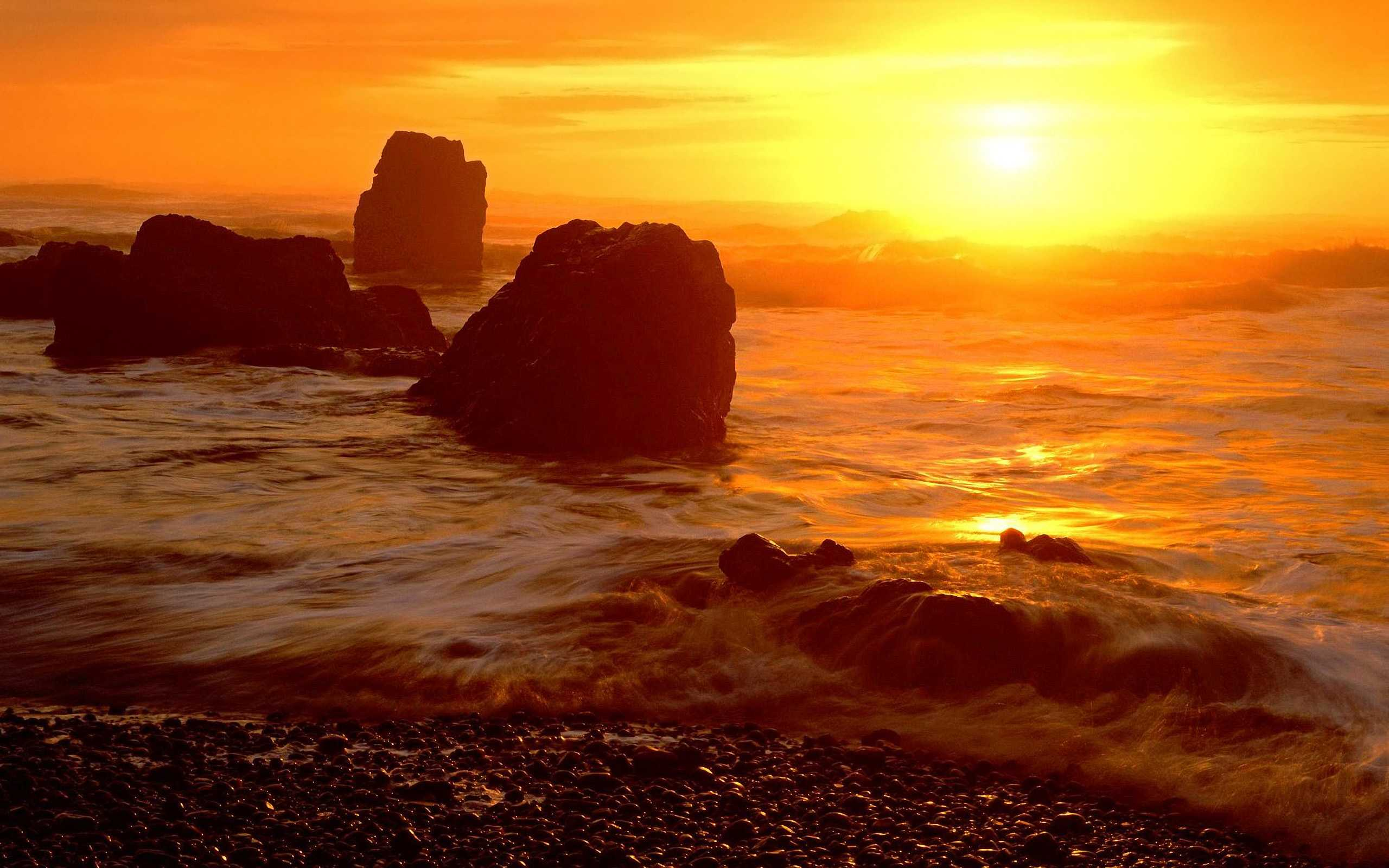 Crescent Beach at Sunset, Ecola State Park, Oregon