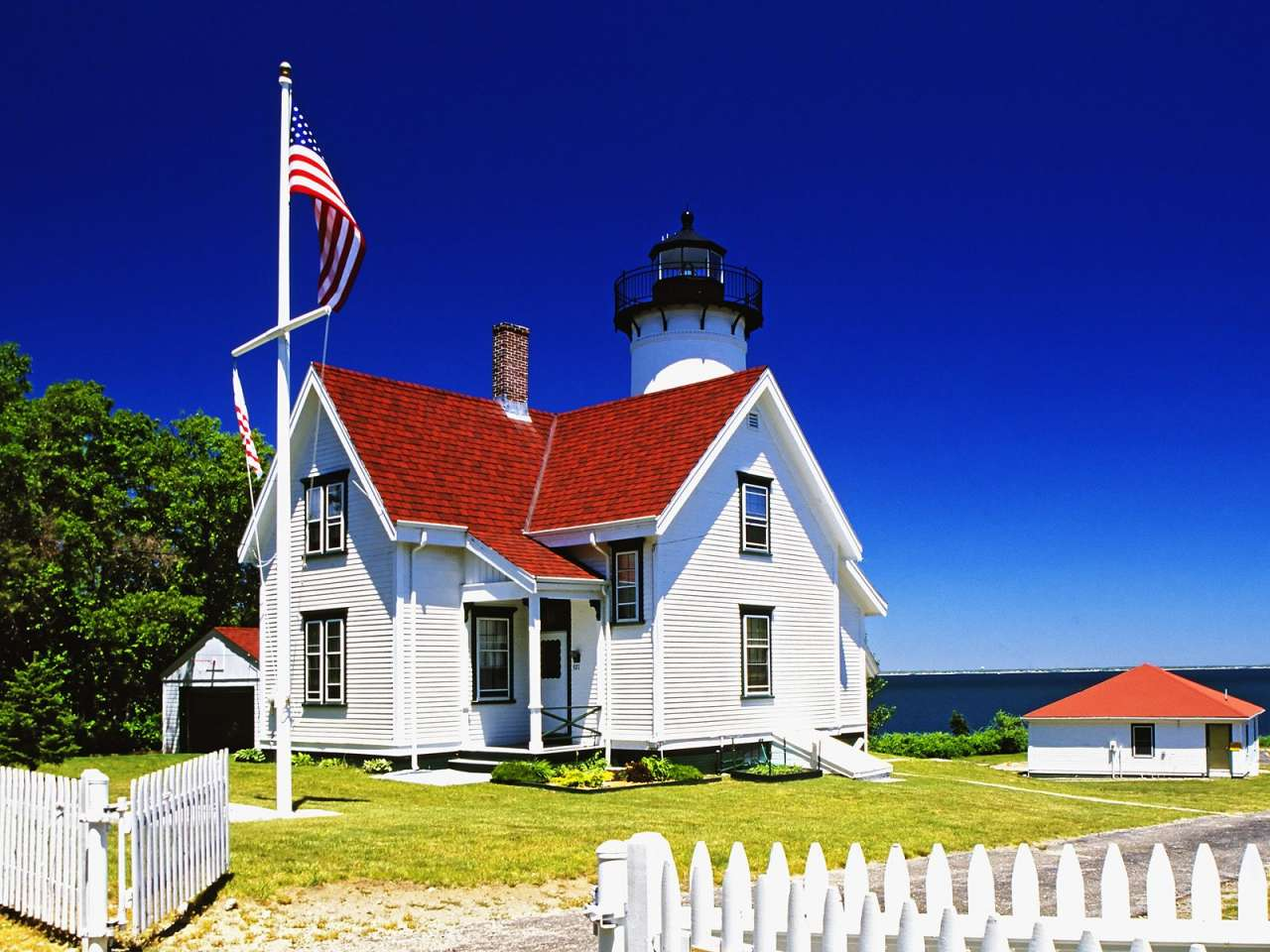 West Chop Lighthouse, Tisbury, Martha's Vineyard, Massachuse